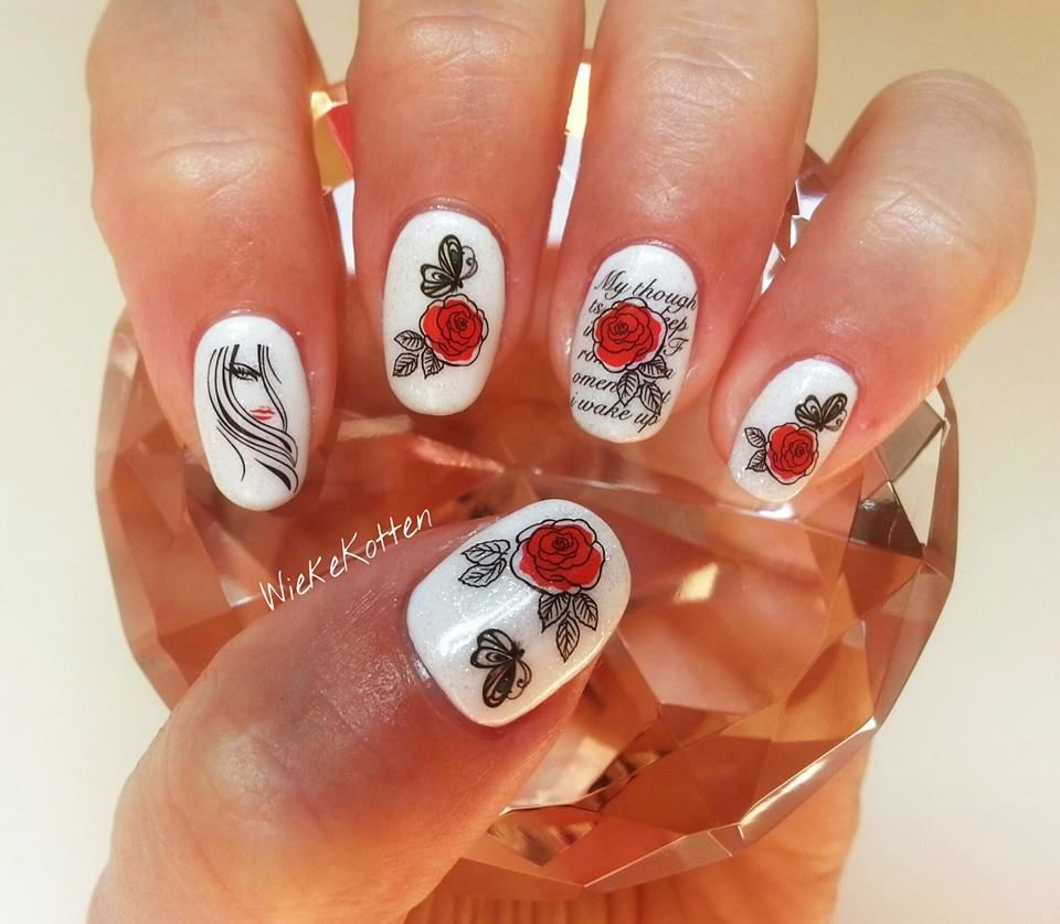 Nail art with water decals!