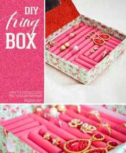 How to make a recycled ring box and egg carton flowers Box Craft