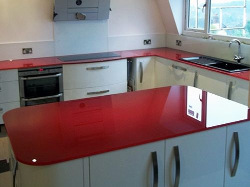 Image Result For Red Laminate Countertop With Images Red Kitchen