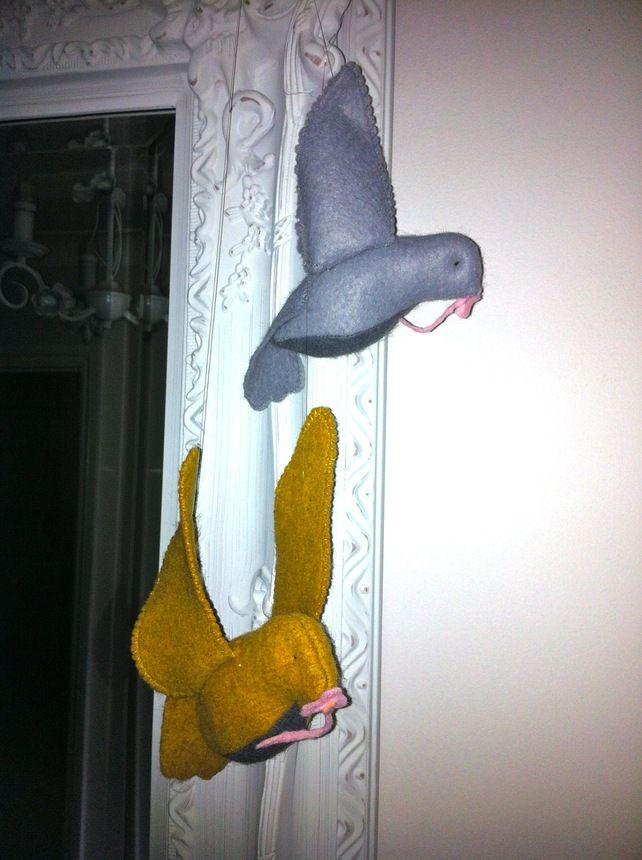 Felted birds £12.99