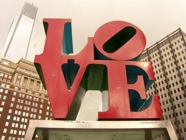 Photograph LOVE Park Largest Print 16 x 20. $40.00, via Etsy.