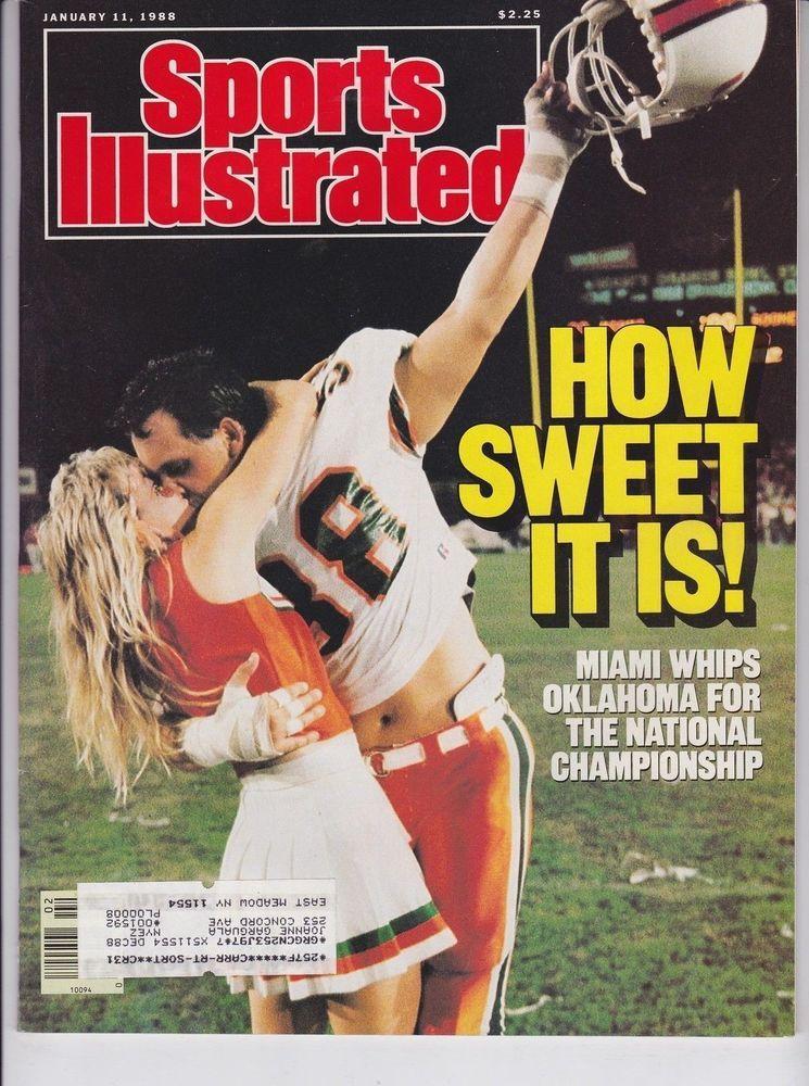 Miami Hurricanes National Champions January 11, 1988