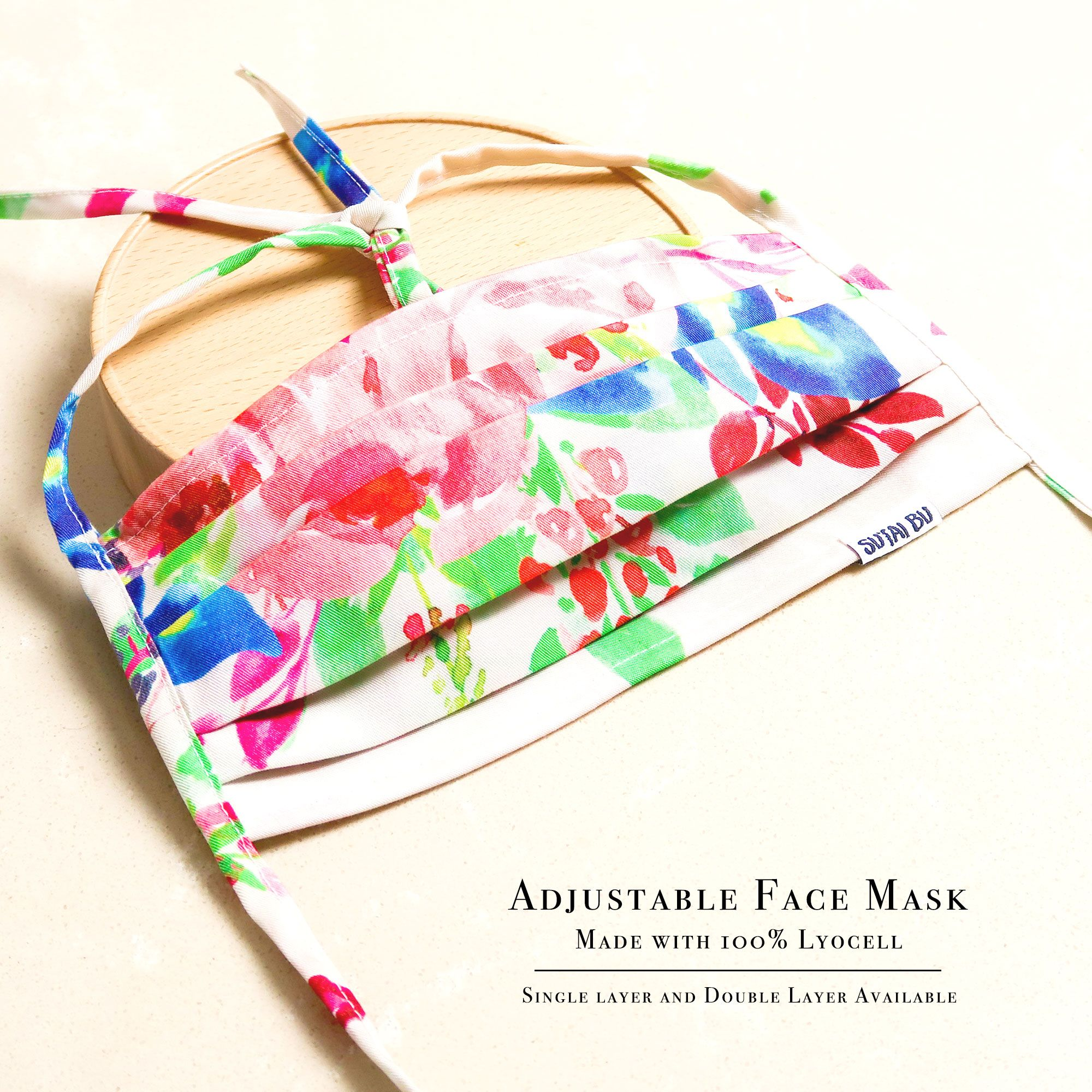 Zero Waste Face Mask With Filter Pocket And Nose Wire   SUTAI BU