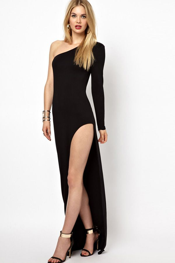 04a041119b1e9 Hualong Sexy Party Side Slit One Shoulder Dress in 2019 | Party ...