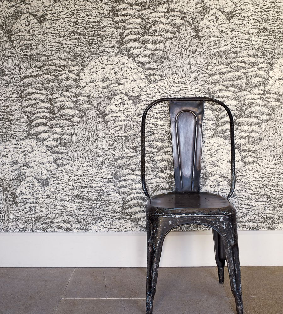 Toilet Room · Woodland Toile Wallpaper ...