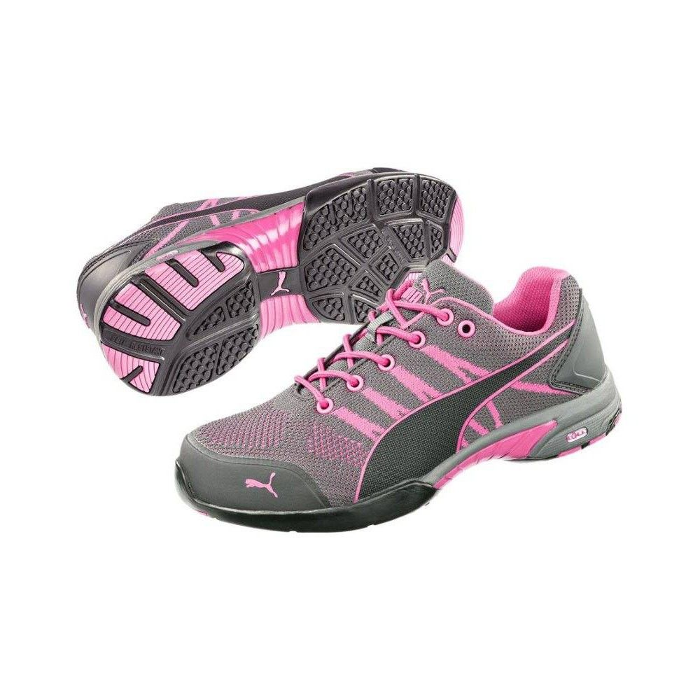 Puma Safety Womens Celerity Pink Steel Toe Knit Shoes – 642915
