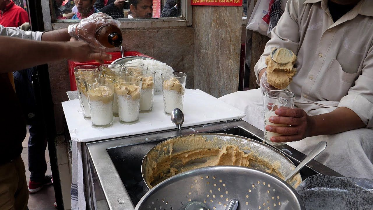 india ice cream noodle / indian street food