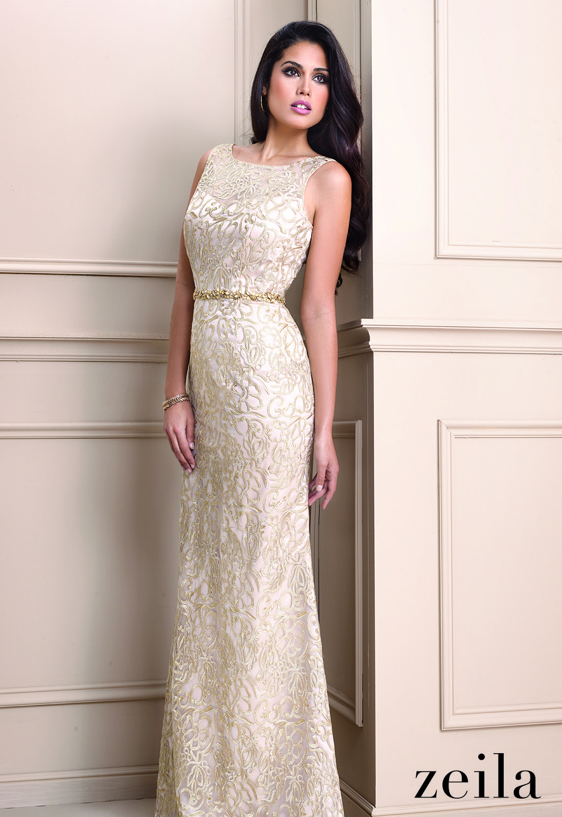 Mother of the groom dresses for outdoor wedding  A stunning floor length gold gown from Zeila perfect for a mother