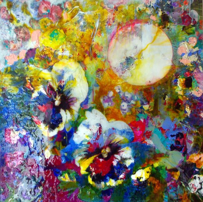Night of the pansies by fleur deakin £2500