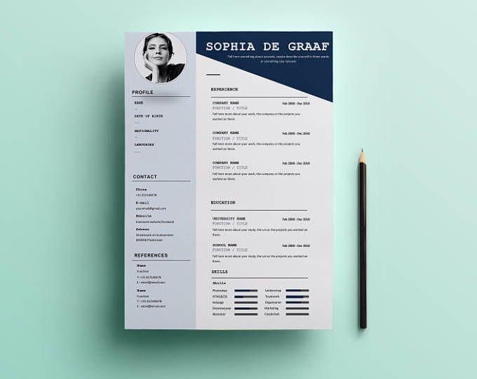 Minimal & Sweet Resume Template | HEYCV CV Template | Professional ...