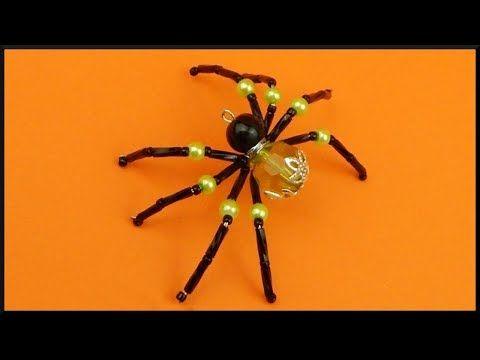DIY Halloween Perlenspinne Perlentier Beaded animal spider