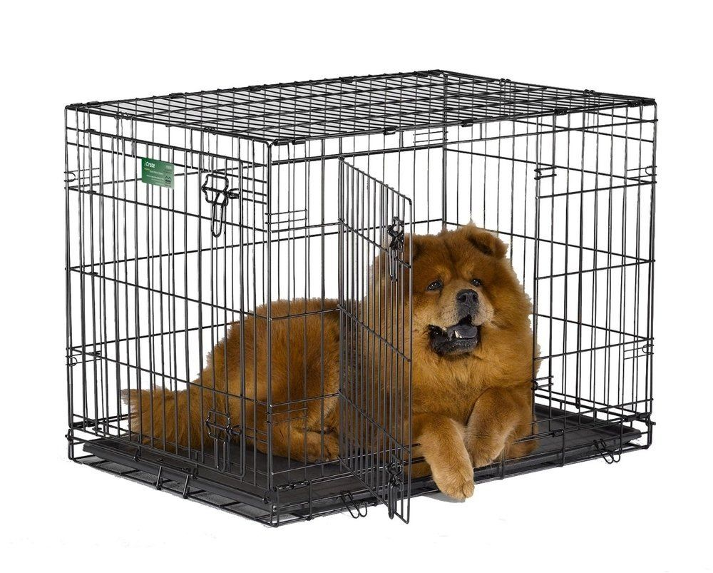 Midwest Dog Double Door I Crate Black 22 X 13 X 16 Check Out This Great Product This Is An Affiliate Li Dog Crate Collapsible Dog Crate Large Dog Crate