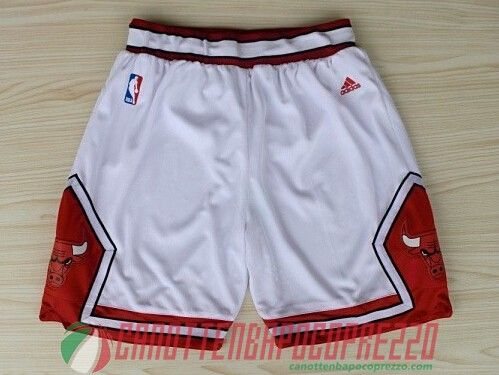 pantaloncini nba poco prezzo Chicago Bulls bianco Gym