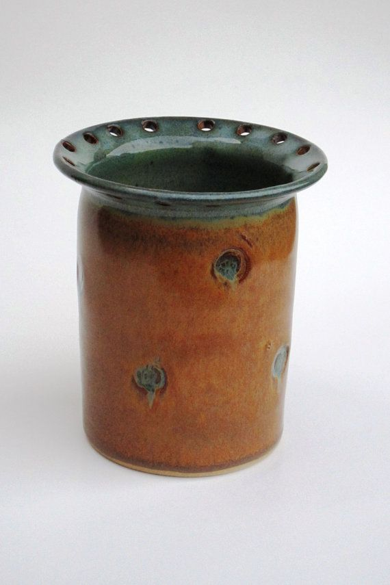 Jewelry Jar Great For Earrings And Holding Make Up Brushes Or Other Items I Love This New Glaze Combination Clay Creations Jar Pottery