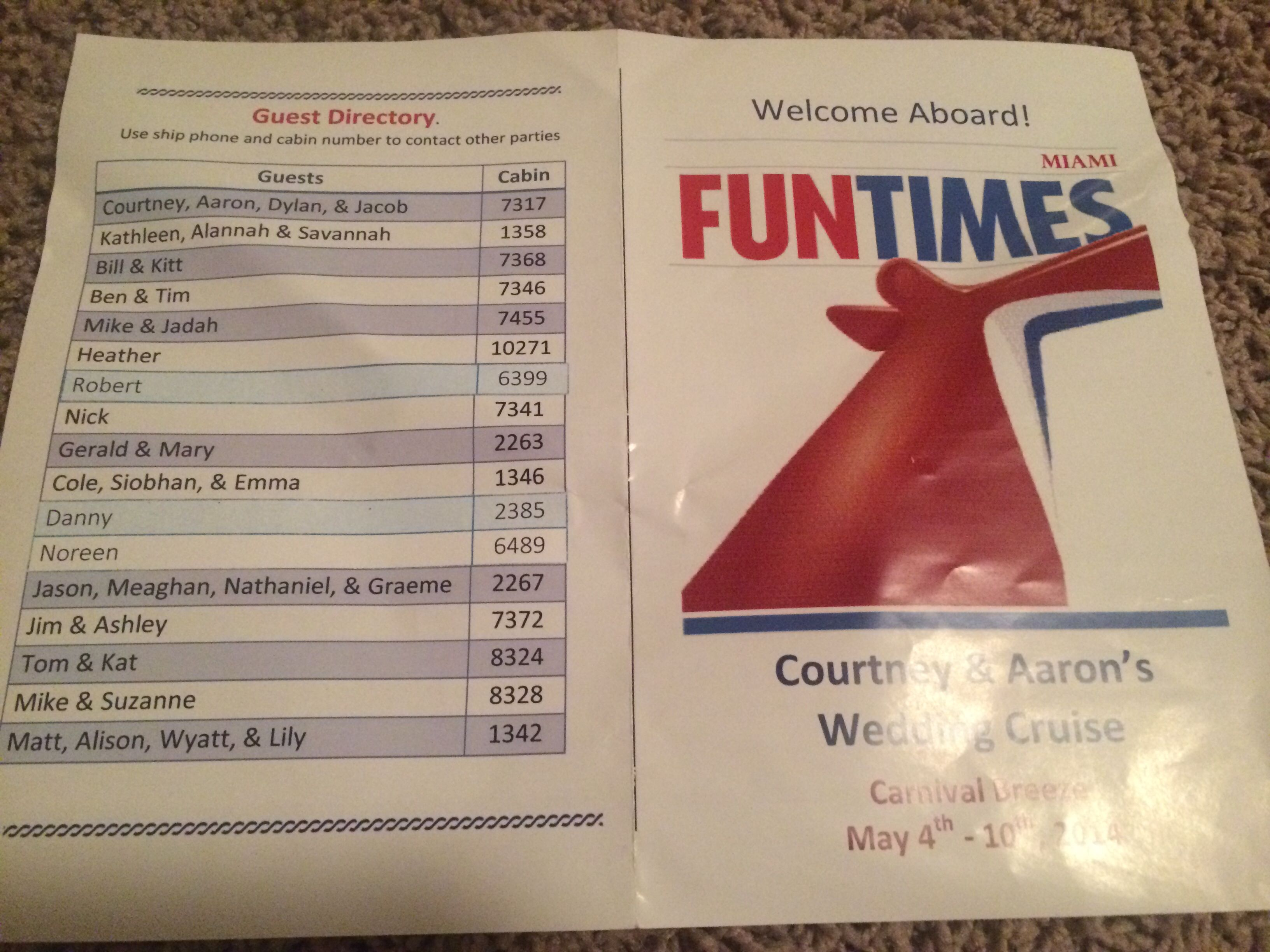 Cruise guest directory carnival breeze cruise wedding front page ...