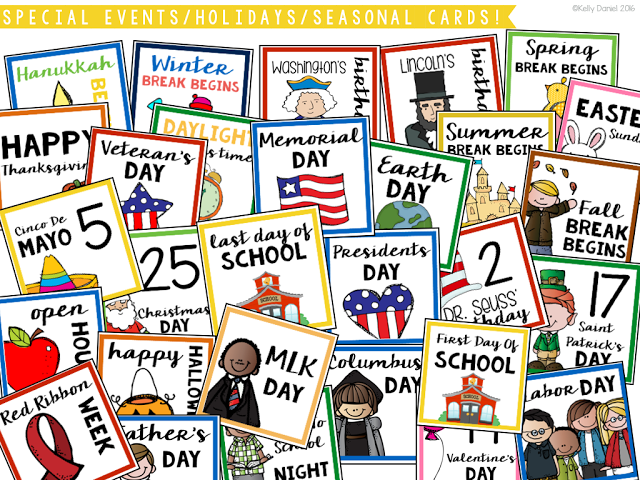 May Calendar This Year : This year round classroom calendar set includes all major