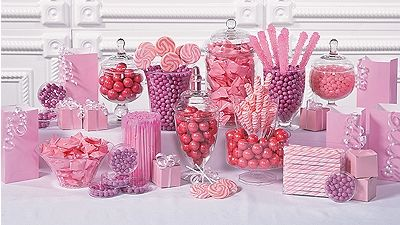 Buffet candy table choice image table decoration ideas watchthetrailerfo pink candy buffet for wedding guests pinterest pink candy pink candy buffet watchthetrailerfo watchthetrailerfo