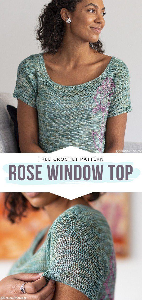 How to Crochet Rose Window Top