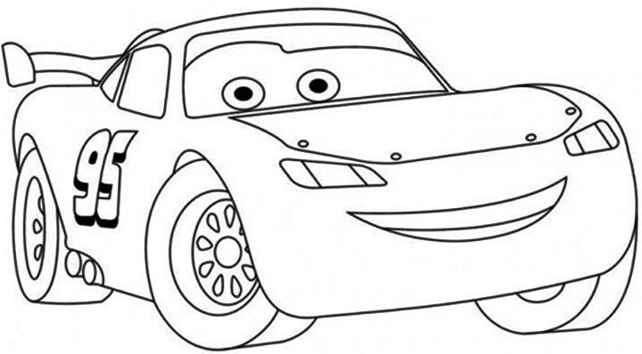 Lightning Mcqueen Coloring Page Pdf