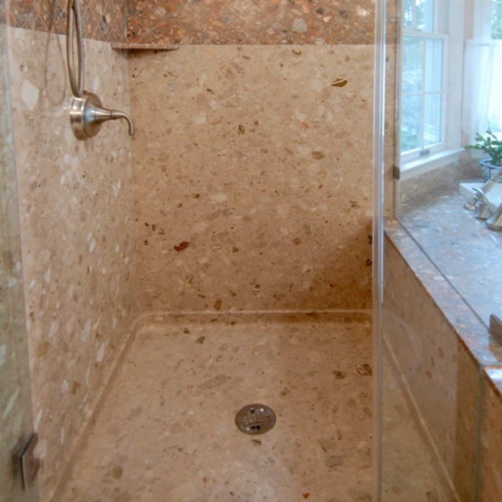 Groutless Shower Floor Shower Floor Stone Shower Glass Tile
