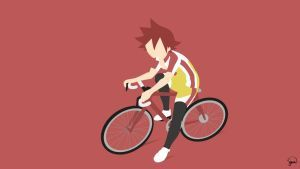 Naruko Shoukichi (Yowamushi Pedal) Minimalism by greenmapple17
