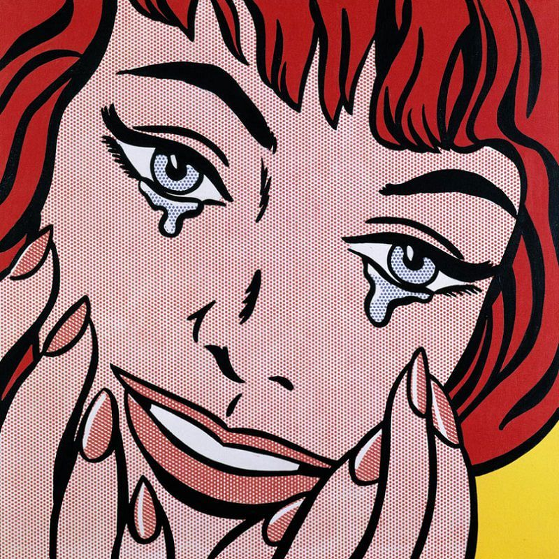 Happy Tears, 1964 by Roy Lichtenstein. Happy Tears was sold for $7.1 million in November, 2012 at Christie's New York.