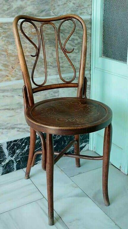 Cadeira autriaca de madeira vergada Thonart