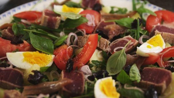 Eén - Dagelijkse kost - salade niçoise met verse tonijn