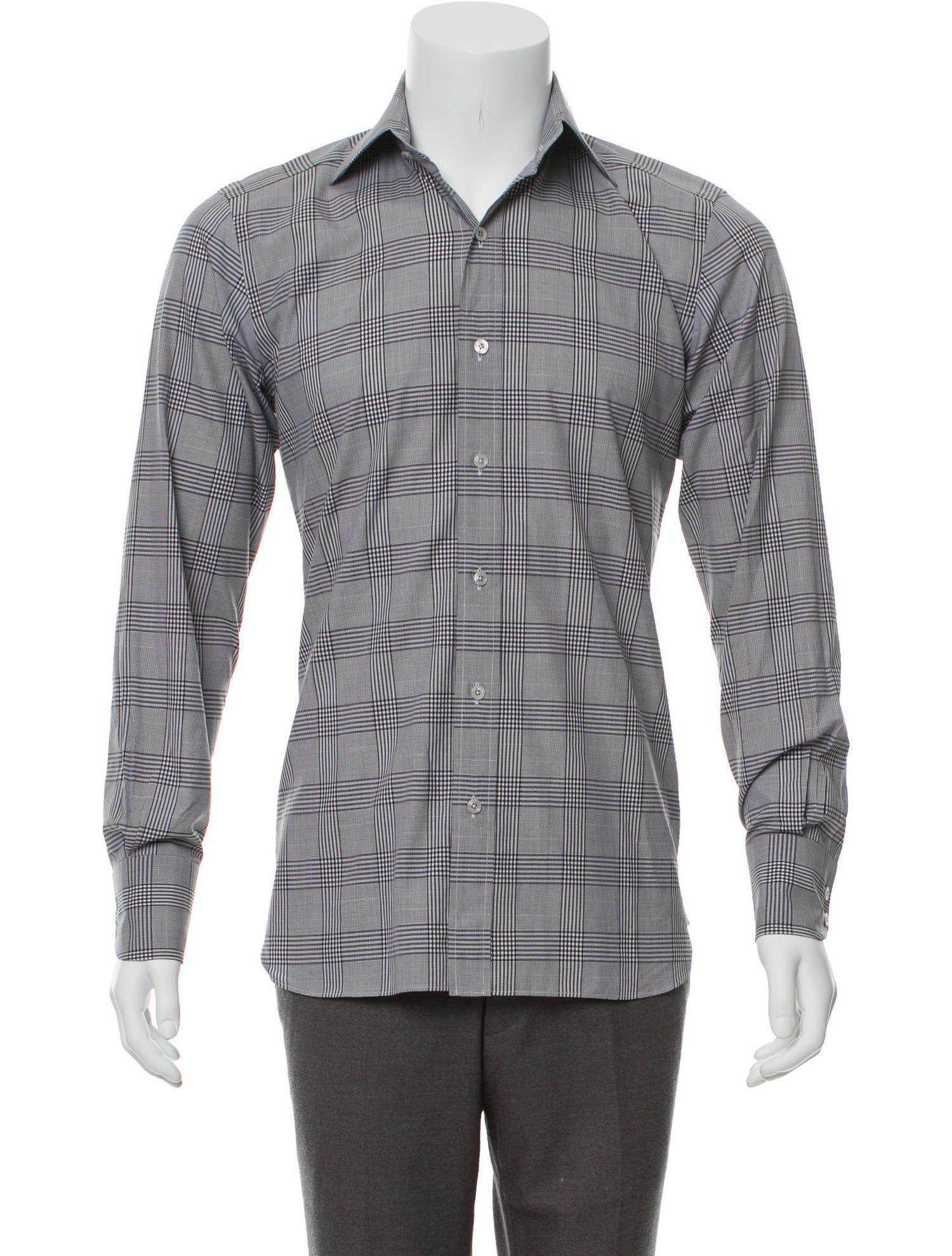 Tom Ford Plaid Point Collar Shirt