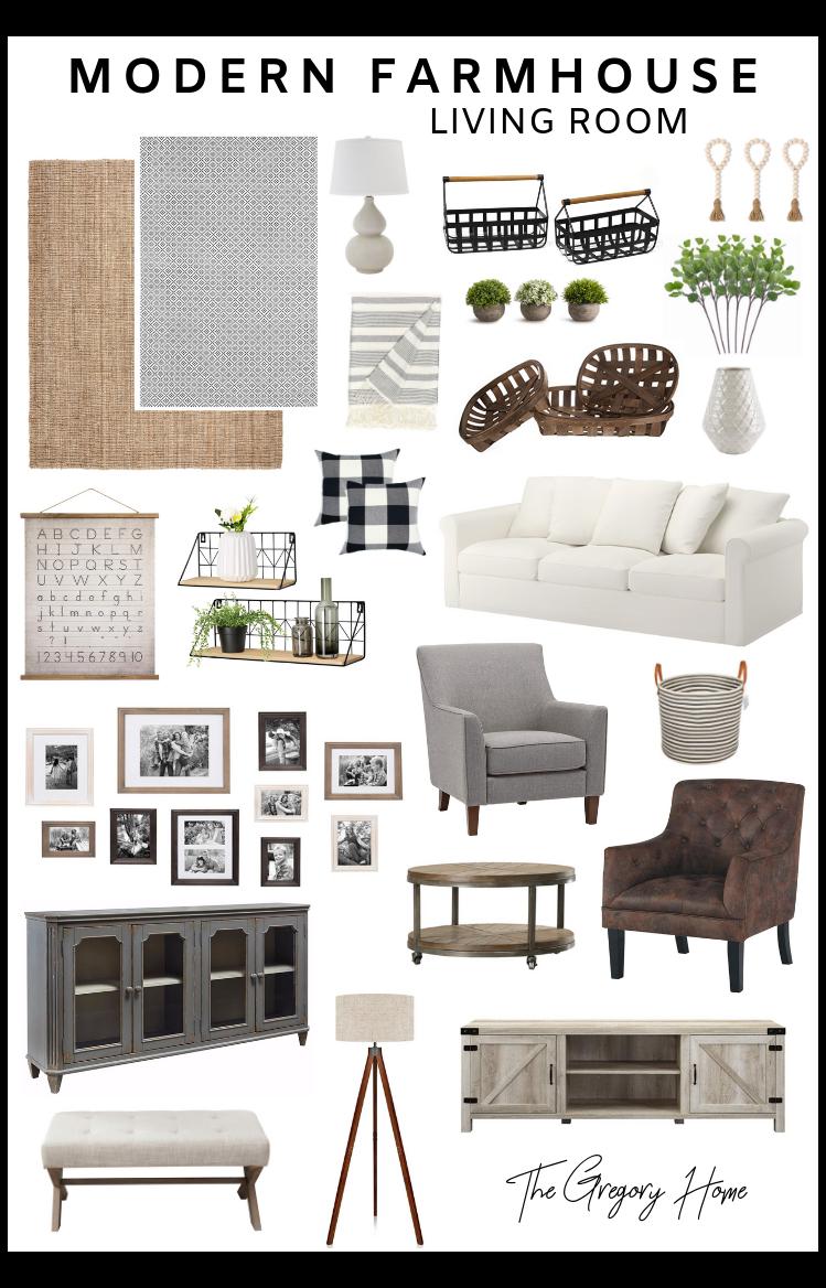 Photo of modern farmhouse living room joanna gaines
