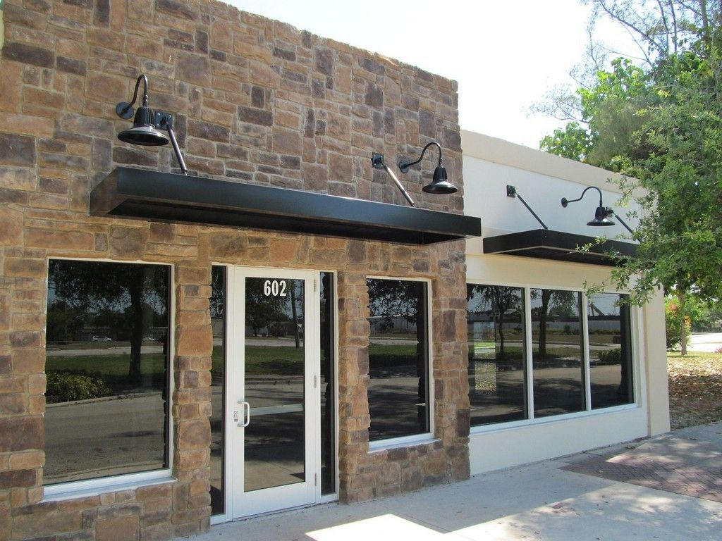 Flat Metal Awnings Small Roof Over Door Called Commercial ...