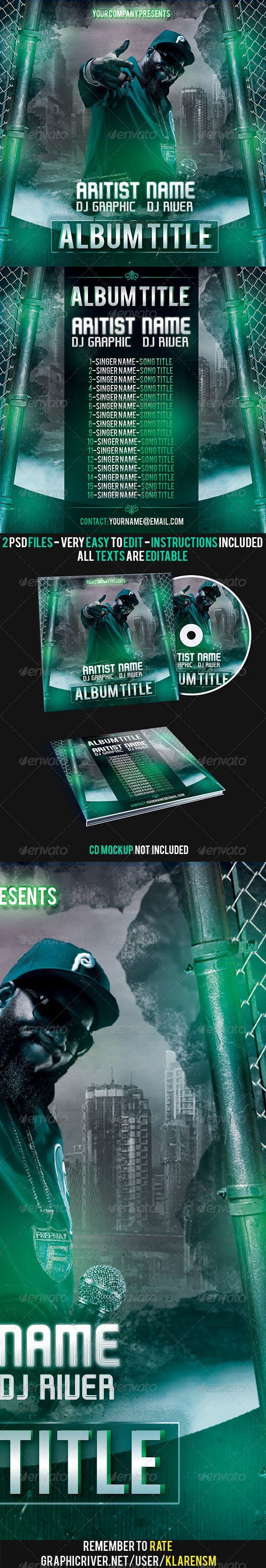 Hip Hop Rap Album Mixtape CD Cover Template | Cd cover template, Cd ...