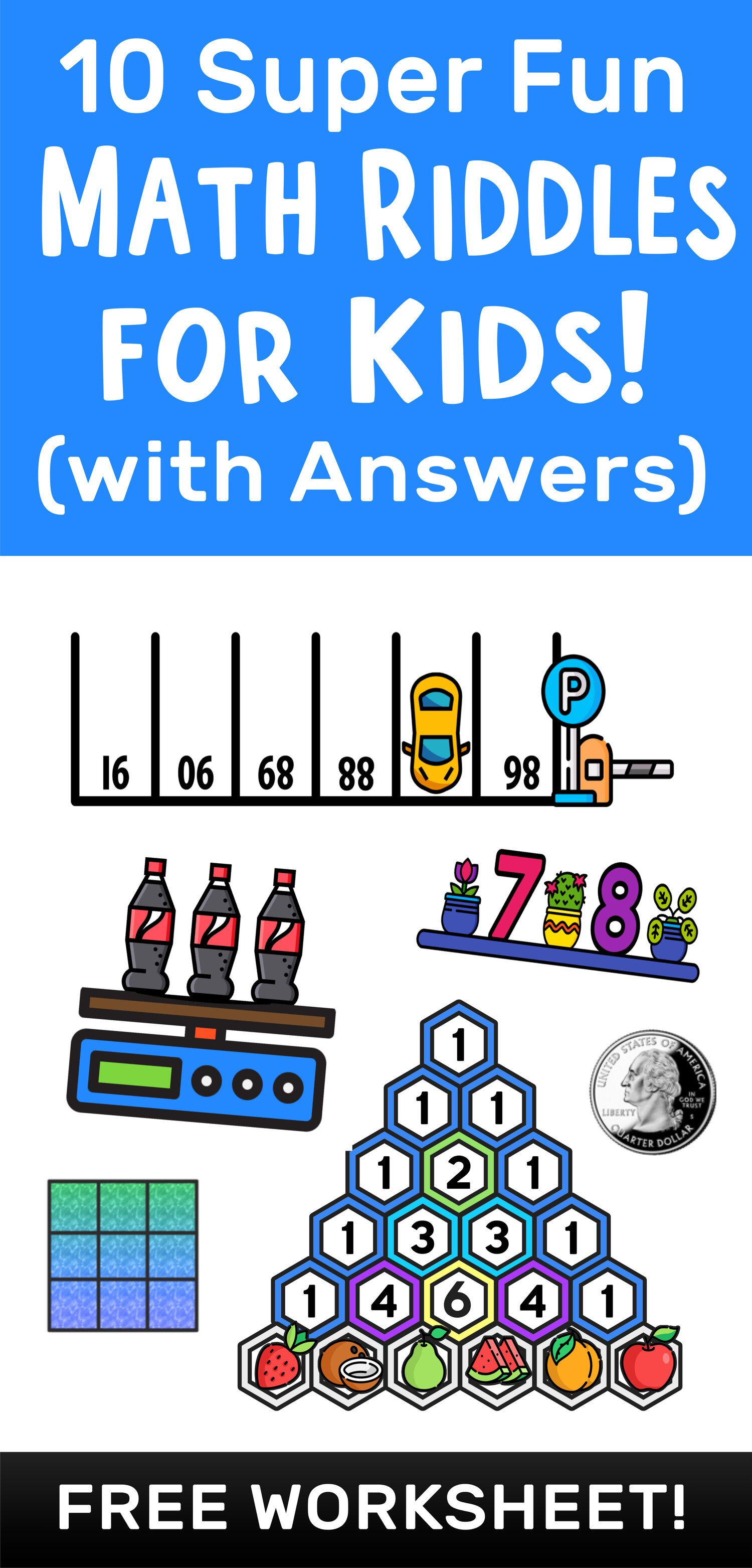 10 Super Fun Math Riddles For Kids Ages 10 With Answers