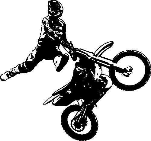 Motocross motorcycle dirt bike freestyle action stunt vinyl wall sticker decal
