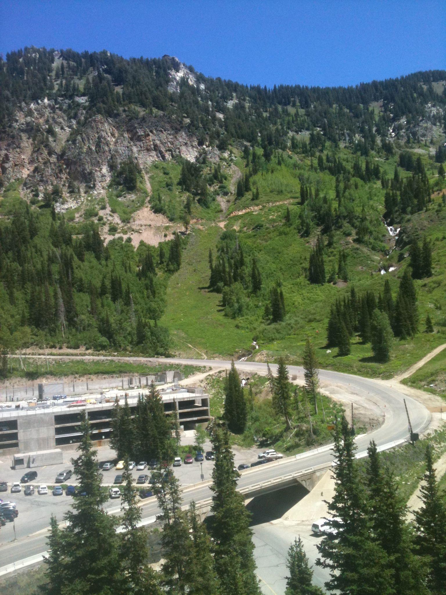 Snowbird Ski Resort Upper Parking Lot