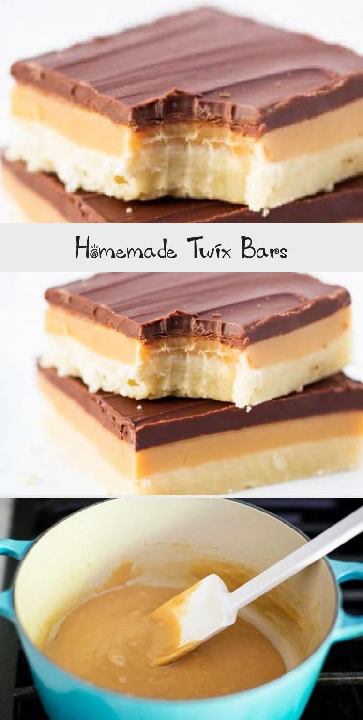 Twix Bars Gooey homemade caramel is perfectly sandwiched between the classic Twix ingredients of a shortbread cookie and milk chocolate—every bite is perfection.Gooey homemade caramel is perfectly sandwiched between the classic Twix...