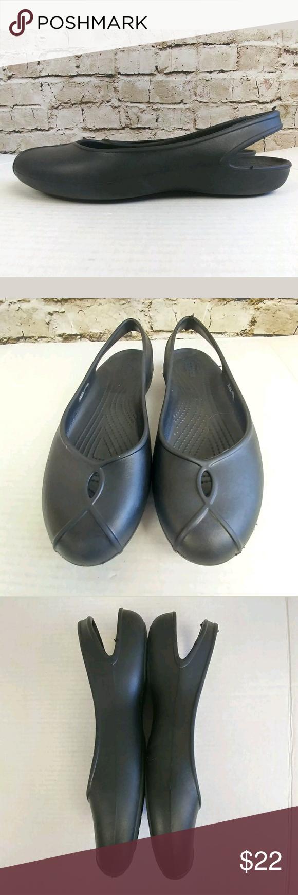 e39fbae6c Authentic Crocs Slingbacks Ballet Flats Sandals Crocs Twist   Keyhole Front  Mary Janes Womens Shoe Size