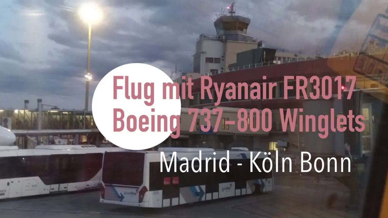 Flug mit Ryanair FR3017 Boeing 737800 Winglets von Madrid