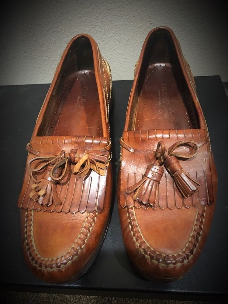11b05cb271 Vintage Cole Haan Brown Leather Kiltie Tassel Loafers Men 10 Made In Brazil  #fashion #clothing #shoes #accessories #mensshoes #dressshoes (ebay link)