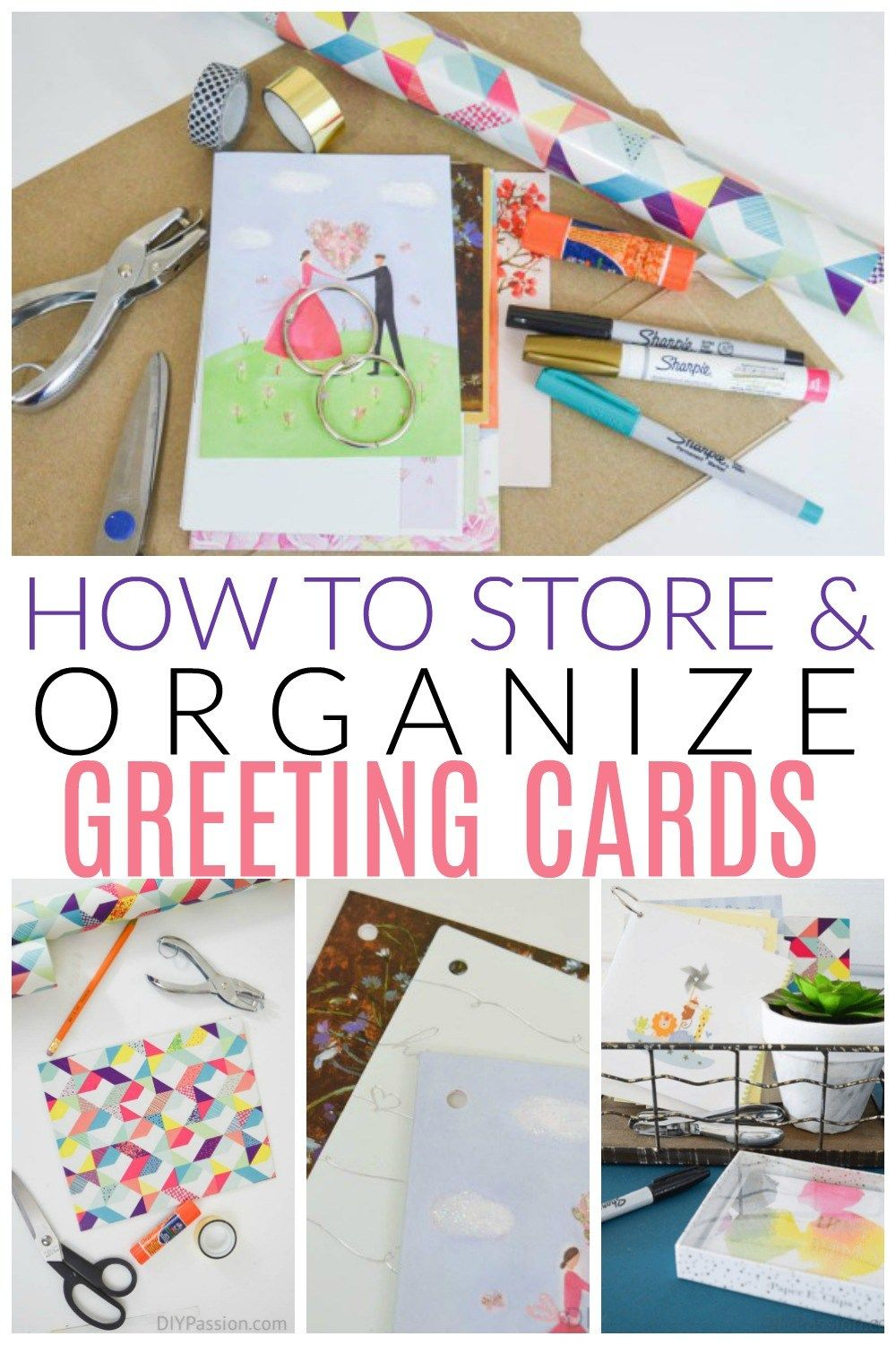 How To Store And Organize Greeting Cards Greeting Card Storage