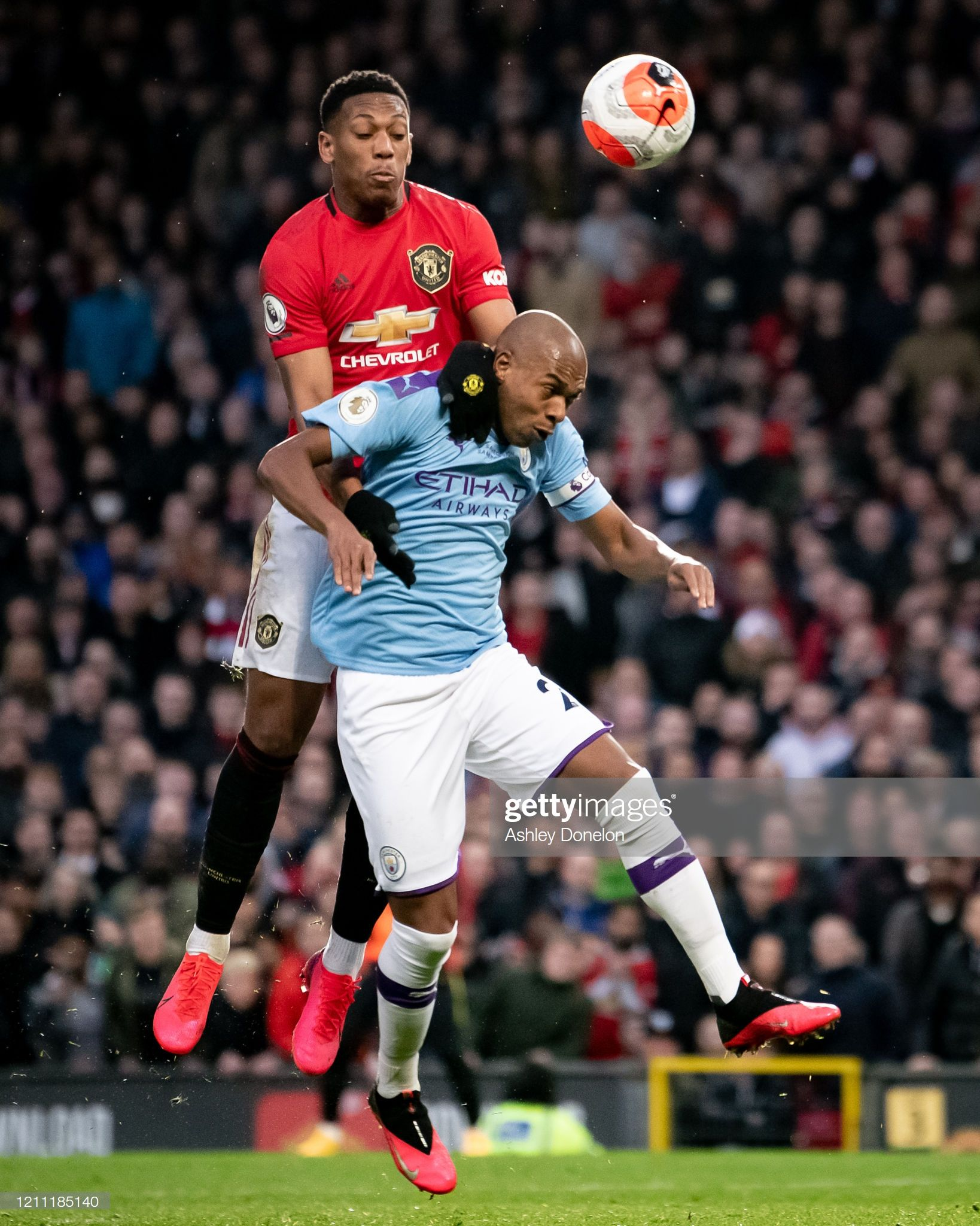Anthony Martial Of Manchester United In Action With Fernandinho Of In 2020 Anthony Martial Manchester United Manchester Derby
