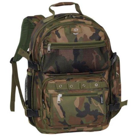 Everest Oversized 20 Inch Lightweight Woodland Camo Backpack