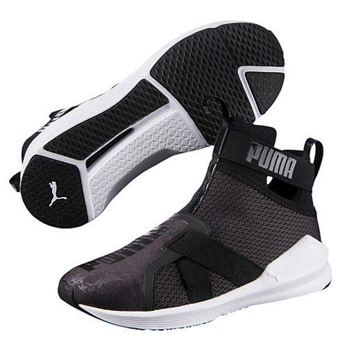 Puma Black Fierce Strap Women's Training Shoes via