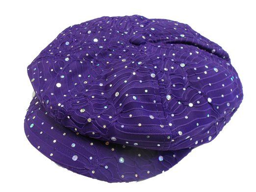 Glitter Newsboy Cap /// Purple /// Why pay more for the same hat?