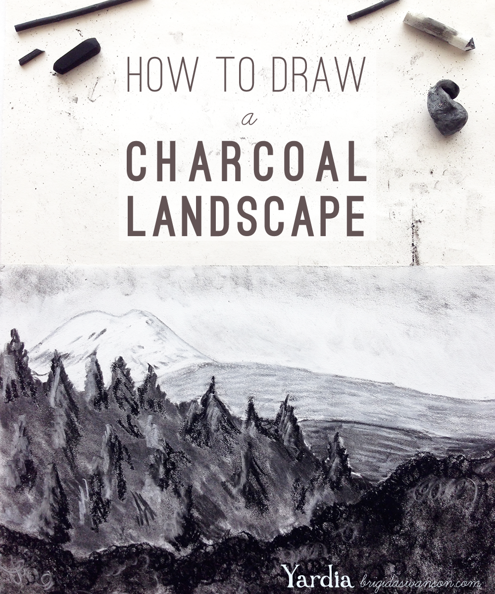 How To Draw A Charcoal Landscape Landscape Drawing Tutorial Charcoal Drawing Charcoal Drawing Tutorial