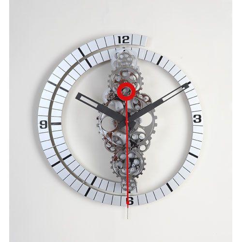 Large Moving Gear Wall Clock Wall Mounted Clock Clocks Home Decor Gear Wall Clock Wall Clock Design Wall Clock