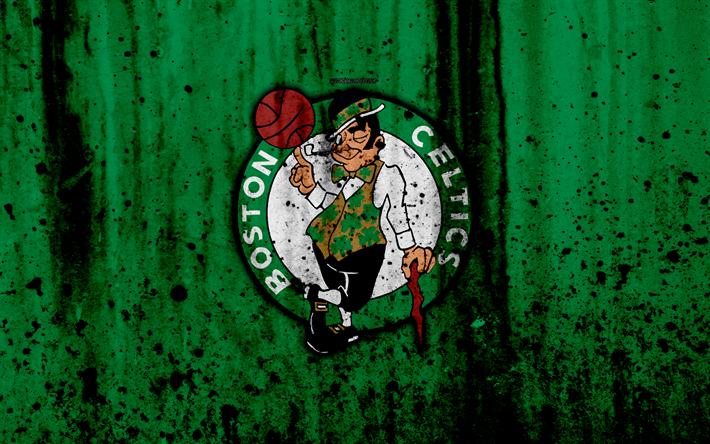 Download wallpapers Boston Celtics, 4k, grunge, NBA