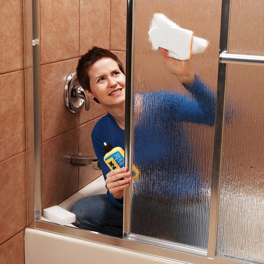 Secret cleaning tips from the pros shower doors doors and mr clean scum proof your shower doors keeping shower doors clean and streak free is a solutioingenieria Images