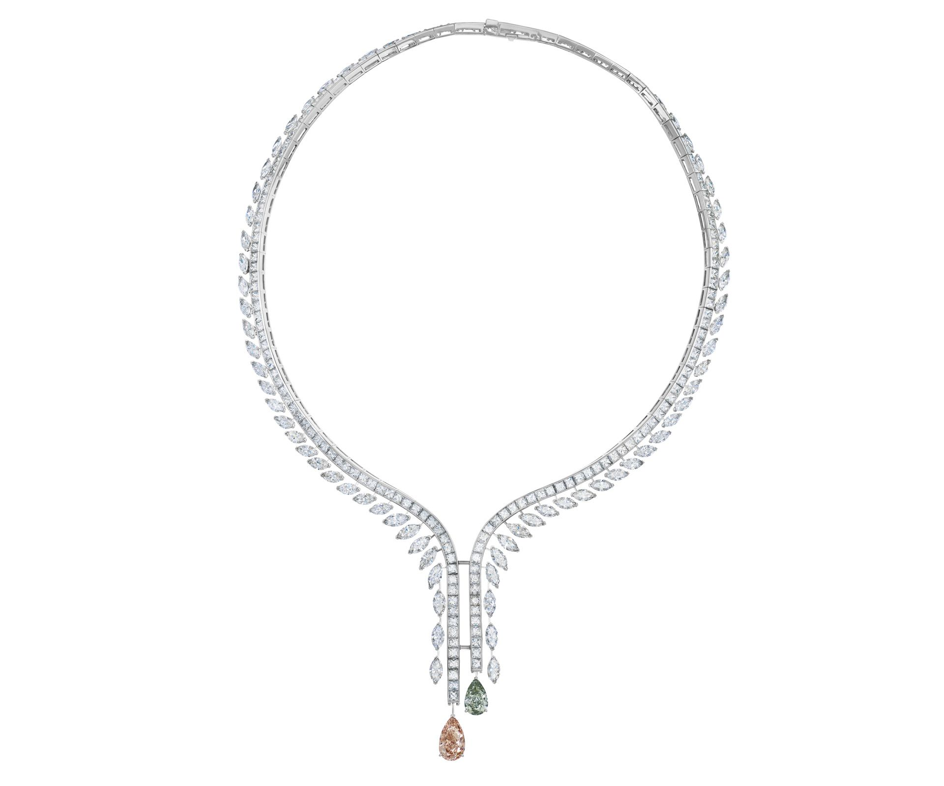 932230b959f96 Cupid necklace in 2019 | De Beers | Diamond Legends | Marquise cut ...