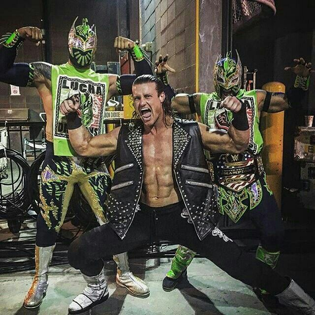 Dolph Ziggler and The Lucha Dragons.